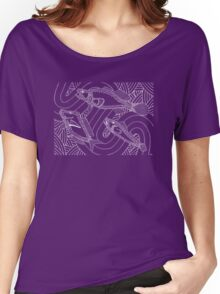 Aarli - school of fish / Simply white  Women's Relaxed Fit T-Shirt