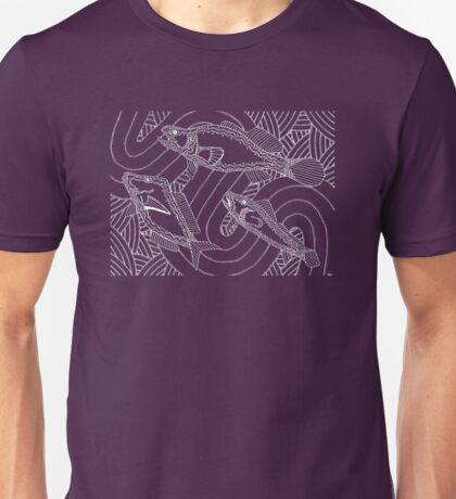 Aarli - school of fish / Simply white  Unisex T-Shirt