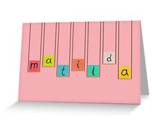 Matilda Hanging Blocks Greeting Card