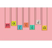 Matilda Hanging Blocks Photographic Print