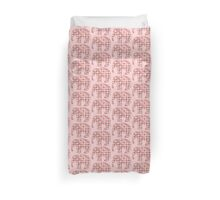Pink, Gray and Yellow Patterned Elephant Silhouette Duvet Cover
