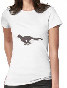 Running cheetah Womens Fitted T-Shirt