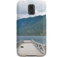 Dock on Lake Crescent, Washington State Samsung Galaxy Case/Skin