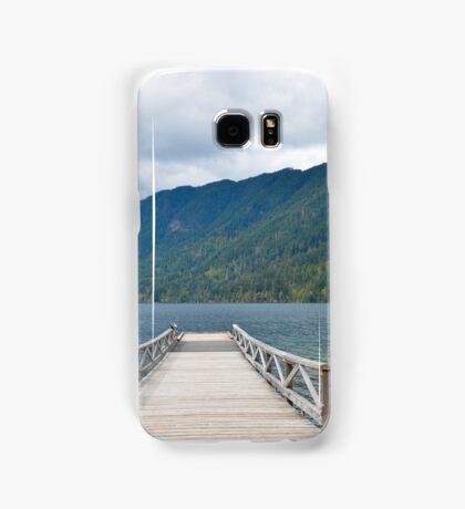 Dock on Lake Crescent, Washington State Samsung Galaxy Case/Skin