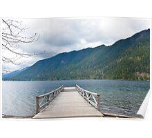 Dock on Lake Crescent, Washington State Poster
