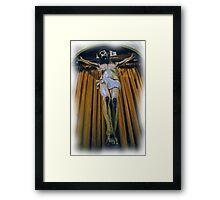 Crucifix in Santa Clara Mission Framed Print