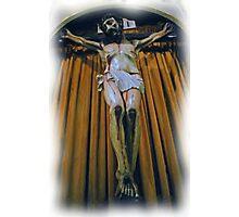 Crucifix in Santa Clara Mission Photographic Print