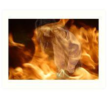 Through The Flames Art Print