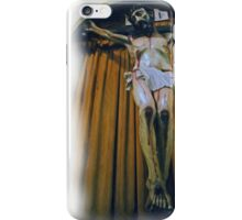 Crucifix in Santa Clara Mission iPhone Case/Skin