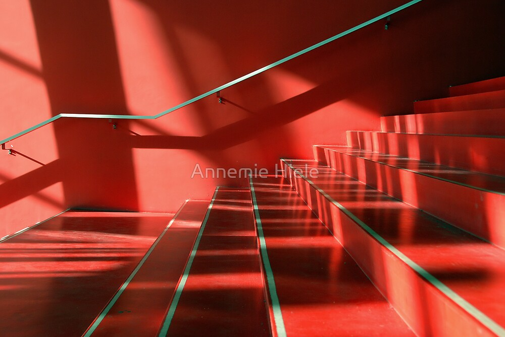 red stairs by Annemie Hiele