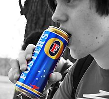 Matt Drinking Fosters by shakey123