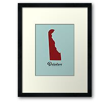 Delaware - States of the Union Framed Print