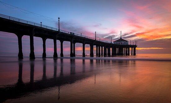 Manhattan Beach Sunset #3 by Graham Gilmore