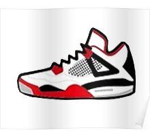 Air Jordan Retro 4 Poster