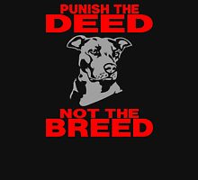 PUNISH THE DEED - NOT THE BREED Womens Fitted T-Shirt