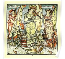 The Baby's Opera - A Book of Old Rhymes With New Dresses - by Walter Crane - 1900-23 I Saw Three Ships Plate Poster