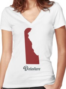 Delaware - States of the Union Women's Fitted V-Neck T-Shirt
