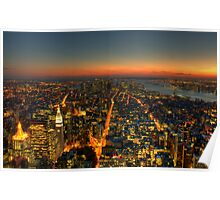 Manhattan Dusk Poster