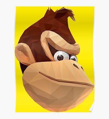 Donkey Kong - Triangulation Vector Poster