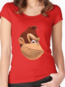 Donkey Kong - Triangulation Vector Women's Fitted Scoop T-Shirt