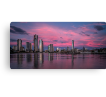 Amazing Pink Sunset over Surfers Paradise Canvas Print