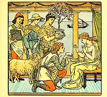 The Baby's Boquet - A Fresh Bunch of Old Rhymes and Tunes - by Walter Crane - 1900-49 The Four Presents Plate by wetdryvac