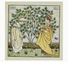 The Baby's Opera - A Book of Old Rhymes With New Dresses - by Walter Crane - 1900-49 I Had A Little Nut Tree Plate Kids Tee
