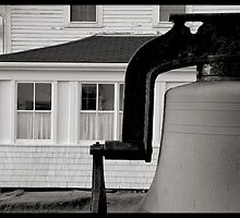 Bell at Monhegan lighthouse by Dave  Higgins