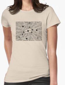 IrrgilMarrga - boomerang - shield / Back in black  Womens Fitted T-Shirt