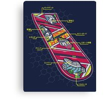 Hoverboard Anatomy Canvas Print