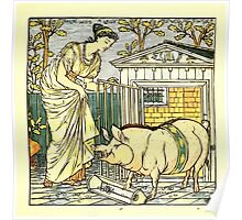 The Baby's Opera - A Book of Old Rhymes With New Dresses - by Walter Crane - 1900-45 There Was a Lady Loved a Swine Plate Poster