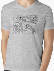 Aarli - school of fish / Back in black Mens V-Neck T-Shirt