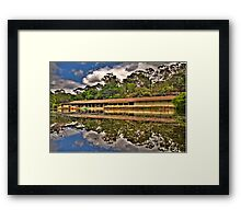 The Boatshed - Audley Royal National Park - The HDR Experience Framed Print