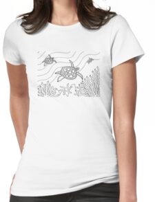 Goorlil - turtle / Back in black Womens Fitted T-Shirt