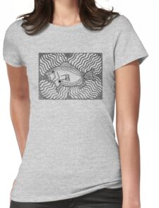 Aarl - fish / Back in black Womens Fitted T-Shirt
