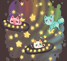 Space Cats by Dance-2-Forget