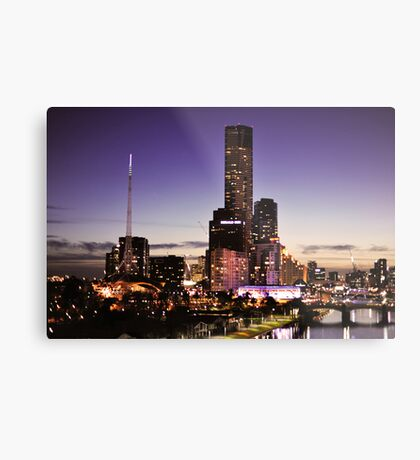 Melbourne Night Sky Metal Print