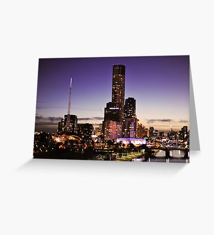Melbourne Night Sky Greeting Card