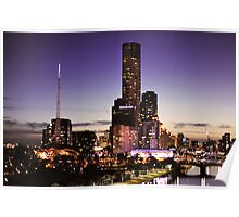 Melbourne Night Sky Poster