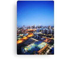 Melbourne Night Scape Canvas Print