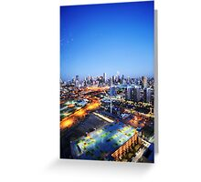Melbourne Night Scape Greeting Card