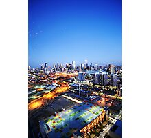 Melbourne Night Scape Photographic Print