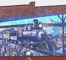 Train Mural by raindancerwoman