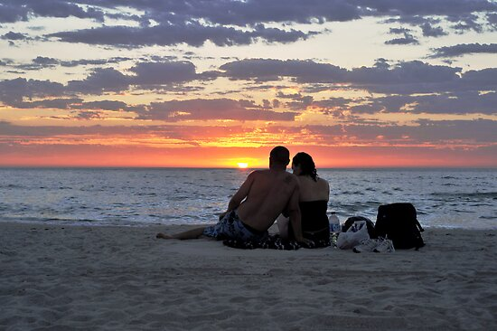 Romantic Couple At The Beach by Alvin Wong