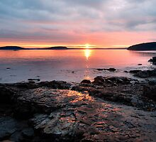 Bar Harbor Sunrise Reflections by Stephen Vecchiotti