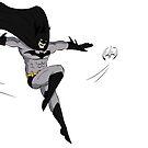 Batman throwing Batarangs by Anonymous Individual