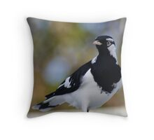 Aust. Murray Magpie  Throw Pillow