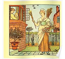 The Baby's Boquet - A Fresh Bunch of Old Rhymes and Tunes - by Walter Crane - 1900-23 Buy a Broom Plate Poster