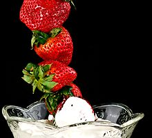 Dipping Strawberries by Trudy Wilkerson