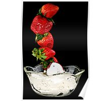 Dipping Strawberries Poster